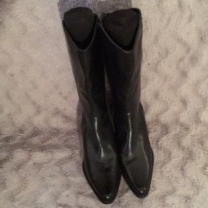 New (no tags) black leather boots